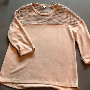 River Island tan/nude fishnet top US size 10